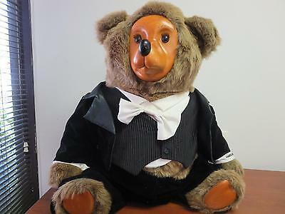 "Tyrone Robert Raikes Bear Vintage Teddy Bear Tux 1986 - 36"" - RARE - EXCELLENT"