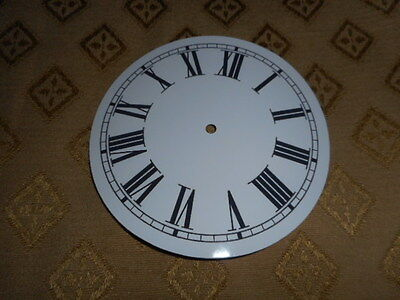 """Round Paper Clock Dial-  5"""" M/T - Roman - High Gloss White - Face /Clock Parts"""