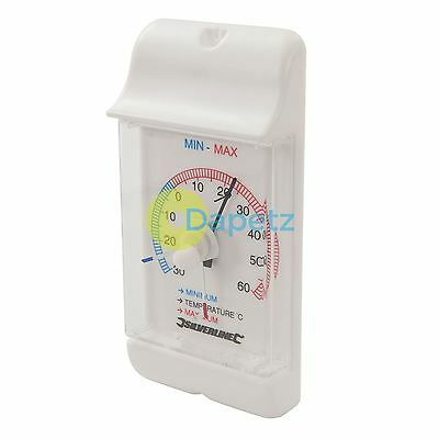 Min/Max Dial Thermometer -30° to +60°C Celsius Temperature Scale Quality