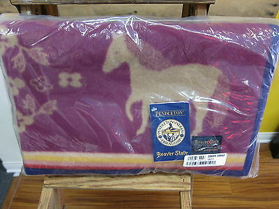 "Pendleton Painted Pony Jacquard Muchacho Baby Blanket 32""x44""  Made in USA!!"