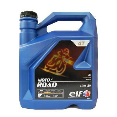 ELF Moto 4 Road 10w 40 Motorcycle Oil Semi Synthetic 4ltr