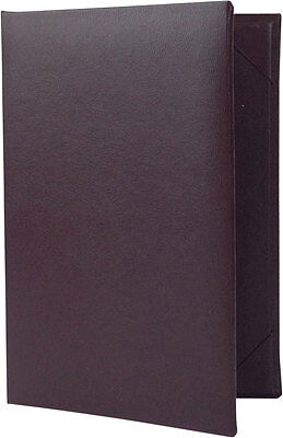 """25 Two Panel, Two View Menu Covers - 6.5"""" x 4.25"""" in Burgundy (PZA-250-BGP-P)"""