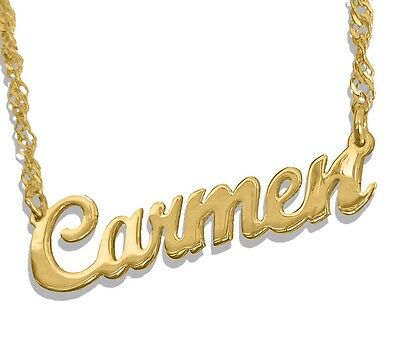 Personalized Name Necklace 14K Solid Yellow Gold  Any Name Jewelry made in USA