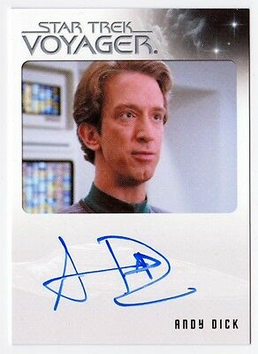 2011 Rittenhouse Archives STAR TREK VOYAGER Andy Dick EMH Mark on card AUTOGRAPH