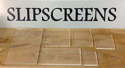 Acrylic Stamping Blocks Set Of 6 Diffrent Sizes,  * New* Made In The Uk