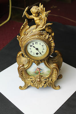 Beautiful 1880's-1890's French 8-day Enamel clock