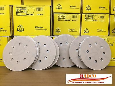 125mm Sanding Discs / Sandpaper KLINGSPOR  - Wood Metal Paint Filler Plastic