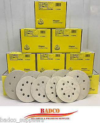 125 & 150mm Sanding discs / Sandpaper KLINGSPOR - wood metal paint filler