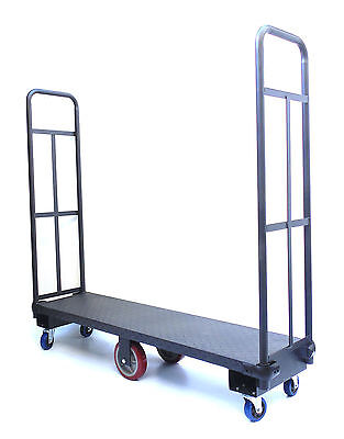 HEAVY DUTY U-BOAT HIGH END NARROW AISLE PLATFORM TRUCK, Local Pickup Only