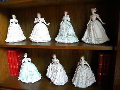 """Collection of 7 Royal Worcester figurines """"Enchanted Evenings"""" by Nigel Stevens"""