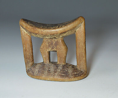 AFRICAN TRIBAL ART GOOD OLD HEAD REST East africa