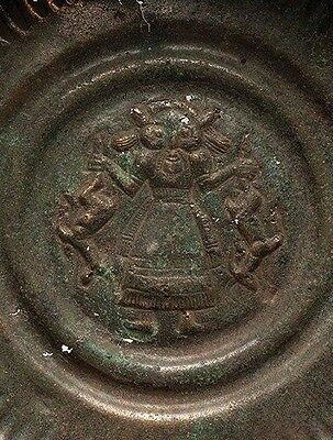Ancient Luristan Bronze Bowl with Master of the Animals .