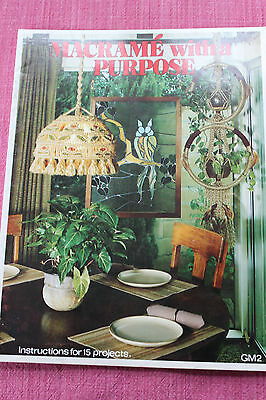 Macramé with a Purpose 1977 Instructions for 15 Projects GM2 Becky Short