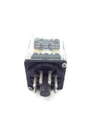24VDC 10 Amp Relay Double Pole Double Throw DPDT, 8 Pin Octal