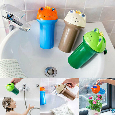 Cartoon Frog Bathing Baby Shower Shampoo Cup Bailer Baby Shower Water Spoon