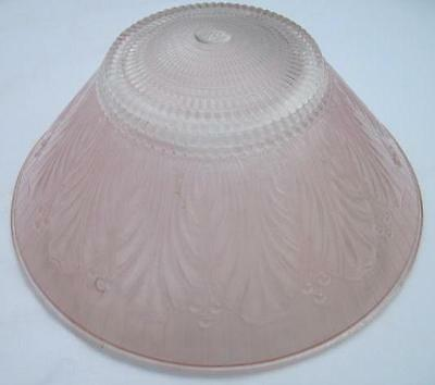 Vintage Pink Art Deco Glass 3 Chain Ceiling Hanging Lamp Light Shade