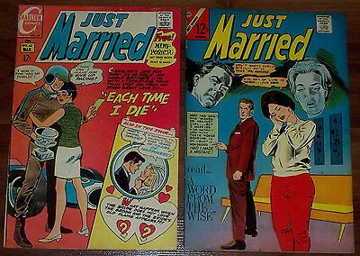 JUST MARRIED #49,63 Silver-Age Charlton 2 Classic Comics 1966/69 LQQK!