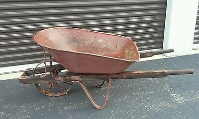 Antique Metal Wheelbarrow