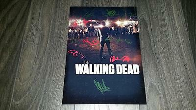 "The Walking Dead Cast X9 Pp Signed 12"" X 8"" A4 Photo Poster Season 7 Negan Glynn"
