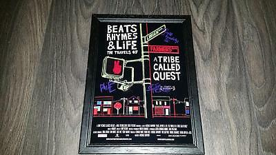 """Beats, Rhymes & Life A Tribe Called Quest Pp Signed Framed A4 12X8"""" Photo Poster"""