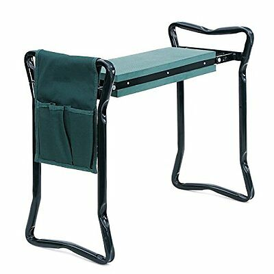 SONGMICS Foldable Kneeler and Garden Seat Portable Stool with EVA Kneeling Pa...