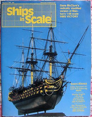 Ships In Scale May/Jun 1988 Model Boat/Ship Building Magazine Hobby Craft V5N29