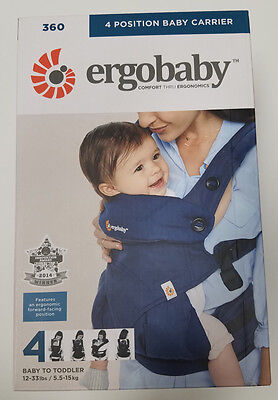 ErgoBaby Four Position 360 Baby Midnight Blue - NEW AUTHENTIC