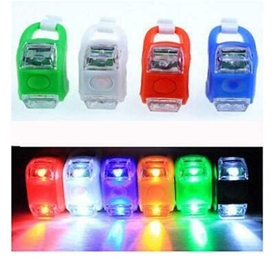 2 LED Bicycle Cycling Bike Silicone Frog Safety Front Warning Lamps Tail Light