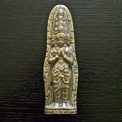 11-Headed Boddhisattva of Avalokitesvara Namaste Buddha Bronze Door Handle -D6