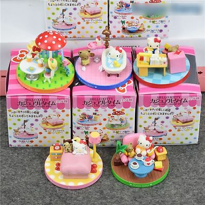 Hello Kitty Set Figures Figure Toy Play Lot New Pink Pvc Girls Cat Mini Gift Box