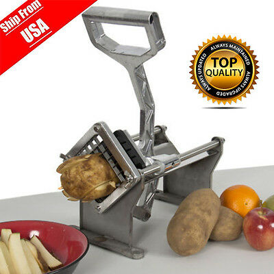 Potato French Fry Fruit Vegetable Cutter Slicer Commercial Quality W/ 3 Blades G