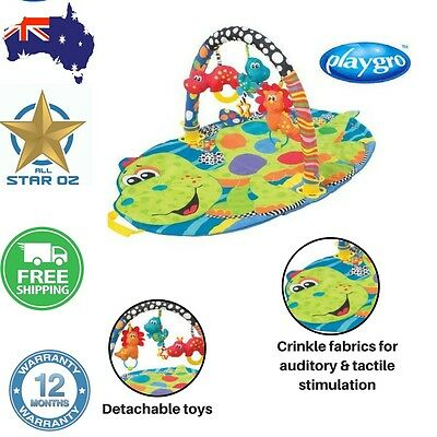Baby Play Mat Gym Mobile Toy Activity Playgro Dino Gym Textured