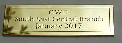 Diamond Cut Engraved Solid Brass Name Plate Plaque 75x25x1.5mm with or no holes
