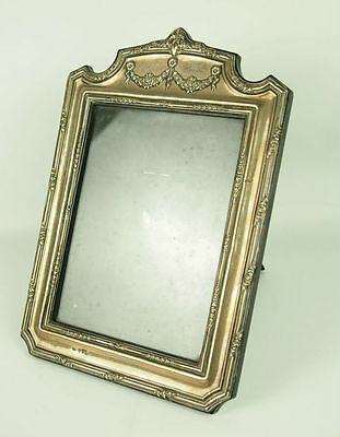 Photo Frame. Silver Punched. Wood Ebonised. Circa 1940.