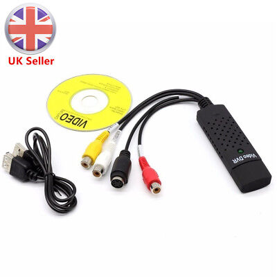 USB 2.0 Interface to 3 RCA Female Phono S-VIDEO Output Cable AV Capture Adapter