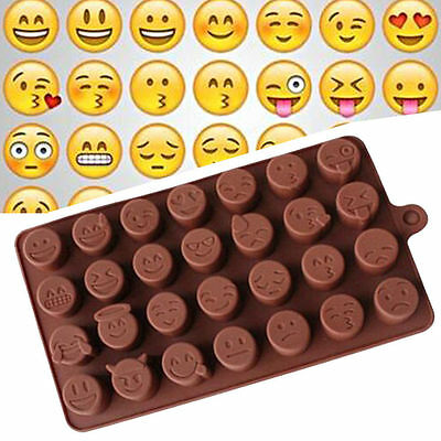 Emoji Expression Silicone Mold Cake Chocolate Candy Ice Baking Mould Tray Craft