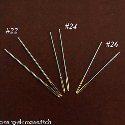 Value Package for Gold Plate Cross Stitch Needles -- #22 #24 #26