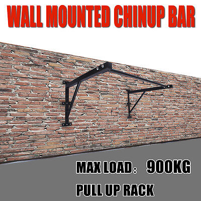 Fitness Functional Pull Up Chin Up Portable Bar Rack Strength Wall Mounted 900kg