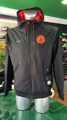 Giacca Vento Calcio Jacket Uefa Orange Windrunner Nike Manchester City 2016/2017