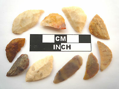 10 x Neolithic Tools \ Scrapers, Saharan Flint Artifacts- 4000BC (0468)
