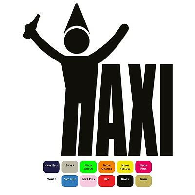 Taxi Drunk Iron On T-Shirt Clothes Heat Transfer Vinyl HTV Sticker 12 Colours