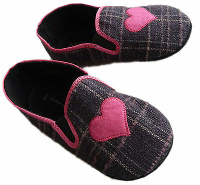 Girl ZARA Home PURPLE PINK Heart Flats Bed Slippers Casual Shoes UK7-11 £19.99