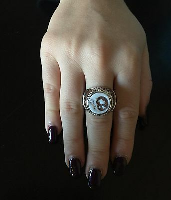 Anello in argento 925  cammeo luna sardonico ring cameo Made in Italy