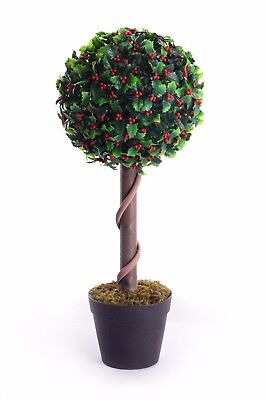 Best Artificial 2ft 60cm Holly Ball Christmas Outdoor Tree xmas garden plant new