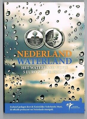 €5 Munt Zilver Proof Nederland Waterland 2010 Blister