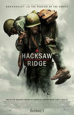 "HACKSAW RIDGE - 13.25""x20"" Original Promo Movie Poster 2016 Andrew Garcia MINT"