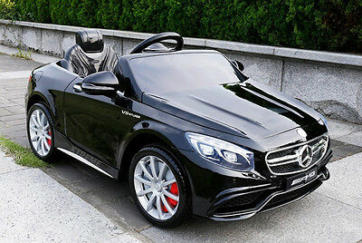 New 12V Ride on Licensed Mercedes Benz Car S63 AMG Childs / Kids Battery Powered