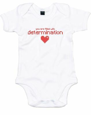 Brand88 - Determination, Printed Baby Grow