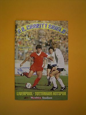 FA Charity Shield - Liverpool v Tottenham Hotspur - 21st August 1982