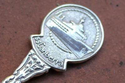 P&o Line Ss Canberra Silver Plate Ocean Liner Ships Souvenir Spoon 70's/80's